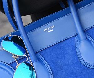 blue, bag, and celine image