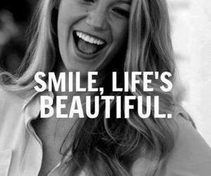 smile, beautiful, and life image