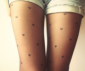heart, hearts, and tights image