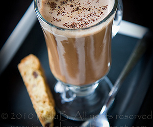 hot chocolate biscuit image