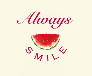 smile, watermelon, and always image