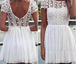 dress, white, and pretty image
