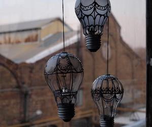 diy, light bulb, and hot air balloons image