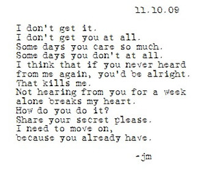 sad, text, and love image