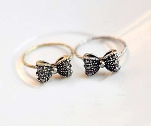 fashion, bow, and rings image