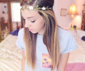beautiful, girl, and flower crown image