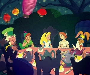 disney, alice, and peter pan image