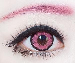 pink, kawaii, and eye image