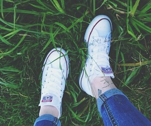 white and converse image