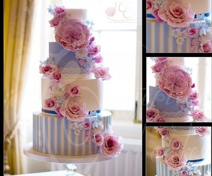 cake, delicia, and flowers image