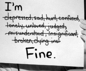 depression, ugly, and cutmyself image