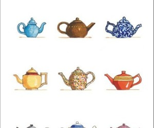 cute, colors, and tea image