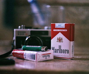 cigarette, marlboro, and camera image