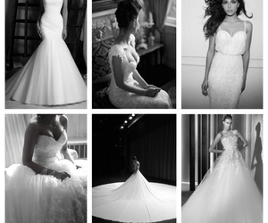 Collage, dress, and wedding image