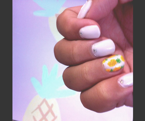 cool, nails, and pineapple image