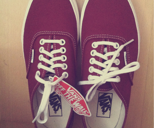 vans, red vans, and shoes image