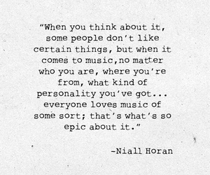 music, niall horan, and quote image