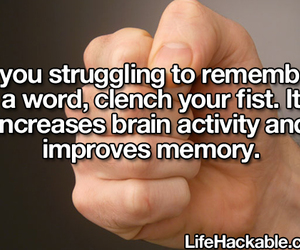 fist, life hack, and memory image