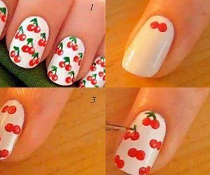 nails, cherry, and diy image