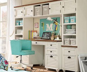 pbteen, study space, and desk space image