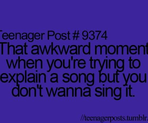 singing, teenager, and song text image