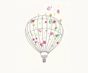 air balloon, drawing, and iphone background image