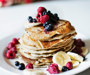 pancakes, food, and fruit image