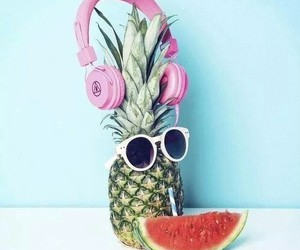 summer, pineapple, and watermelon image