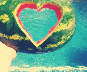 pool, summer, and heart image