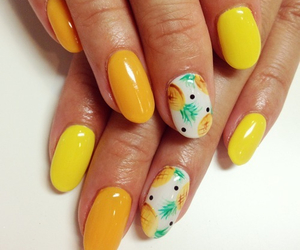 girl, nails, and pineapple image