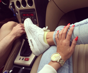 car, nike, and nails image