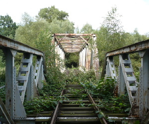 abandoned, track, and urban decay image