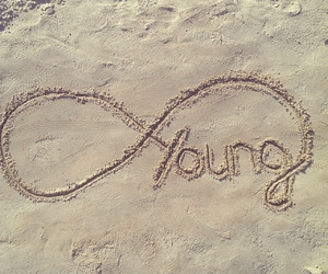 young, infinity, and sand image