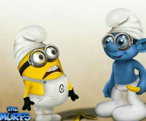 minions, blue, and smurf image