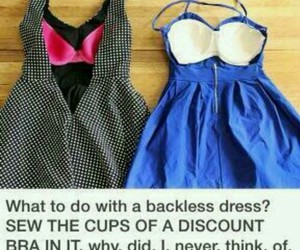 dress, diy, and bra image