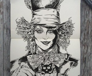 alice in wonderland, drawing, and art image