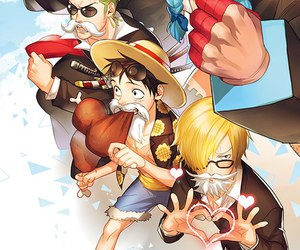 one piece, franky, and sanji image