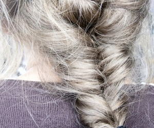 cute, blond, and braid image