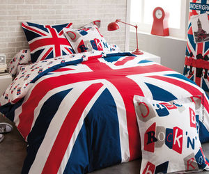 bed, british, and bedroom image