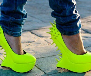 shoes, fashion, and neon image