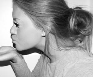 girl, hair, and kiss image