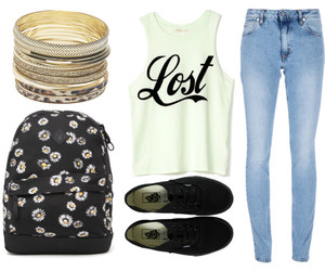 fashion, jeans, and backpack image
