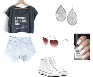 converse, summer, and casual image