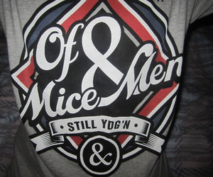 of mice and men, shirt, and of mice & men image
