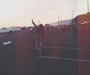 girl, bike, and grunge image