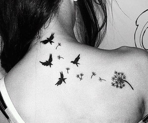tattoo, bird, and tatoo image