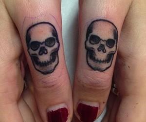 tattoo, skull, and grunge image