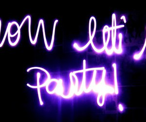 party, lets, and now image