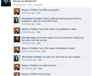facebook, harry potter, and voldemort image