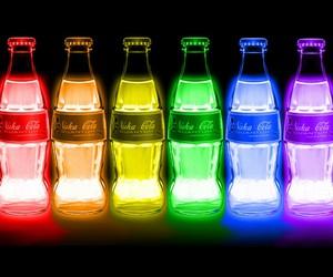 colors, neon, and coca cola image
